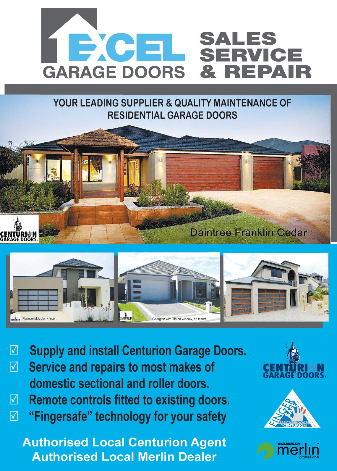Excel Garage Doors Garage Doors Rockingham Phone 9592