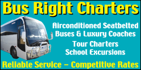 *Bus Right Charters - Bus and Coach Charters Golden Bay Rockingham