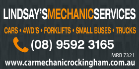 *Lindsay's Mechanical Services - 4WD SERVICE AND REPAIRS ROCKINGHAM BALDIVIS PORT KENNEDY