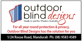 *Outdoor Blind Designs - Blinds Mandurah DESIGNED & MANUFACTURED IN WA -  SEE OUR MONTHLY SPECIALS - 35% OFF