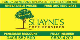 *Shayne's Tree Services - Stump Grinding Port Kennedy Rockingham