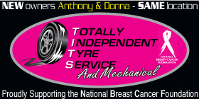 *Totally Independent Tyre Service - Motor Vehicle Repairs Port Kennedy Rockingham