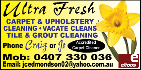 *Ultra Fresh Carpet and Upholstery Cleaning - Upholstery Cleaning Golden Bay