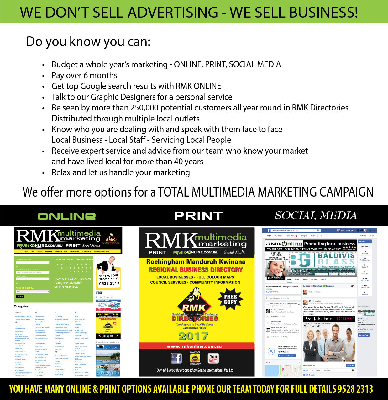Advertise your Business with RMK Multimedia Marketing